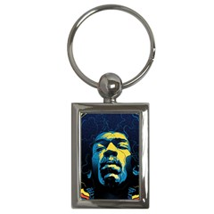 Gabz Jimi Hendrix Voodoo Child Poster Release From Dark Hall Mansion Key Chains (rectangle)