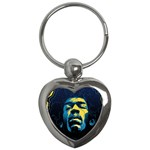 Gabz Jimi Hendrix Voodoo Child Poster Release From Dark Hall Mansion Key Chains (Heart)  Front