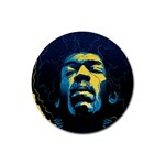 Gabz Jimi Hendrix Voodoo Child Poster Release From Dark Hall Mansion Rubber Coaster (Round)  Front
