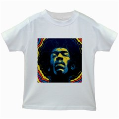 Gabz Jimi Hendrix Voodoo Child Poster Release From Dark Hall Mansion Kids White T-Shirts