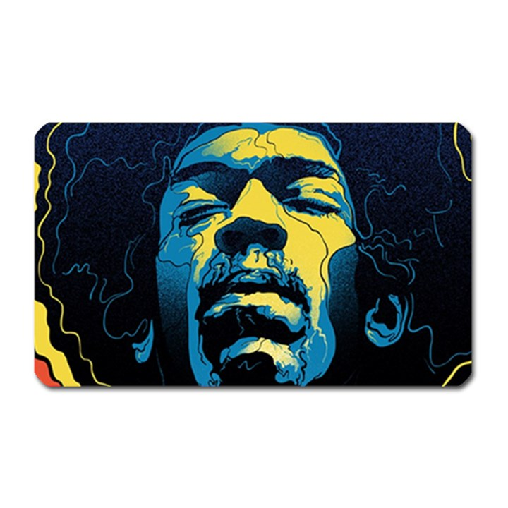 Gabz Jimi Hendrix Voodoo Child Poster Release From Dark Hall Mansion Magnet (Rectangular)