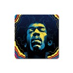 Gabz Jimi Hendrix Voodoo Child Poster Release From Dark Hall Mansion Square Magnet Front