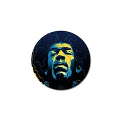 Gabz Jimi Hendrix Voodoo Child Poster Release From Dark Hall Mansion Golf Ball Marker