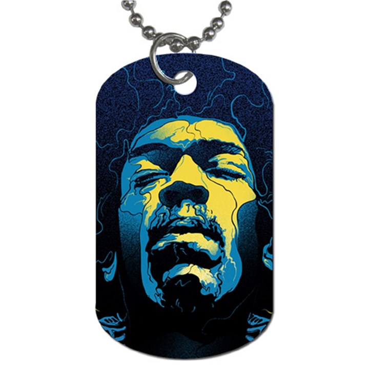 Gabz Jimi Hendrix Voodoo Child Poster Release From Dark Hall Mansion Dog Tag (Two Sides)