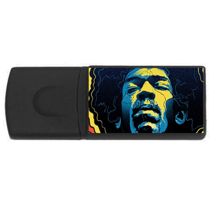 Gabz Jimi Hendrix Voodoo Child Poster Release From Dark Hall Mansion USB Flash Drive Rectangular (2 GB)
