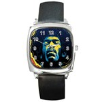 Gabz Jimi Hendrix Voodoo Child Poster Release From Dark Hall Mansion Square Metal Watch Front