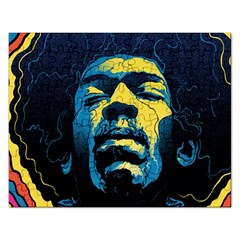 Gabz Jimi Hendrix Voodoo Child Poster Release From Dark Hall Mansion Rectangular Jigsaw Puzzl