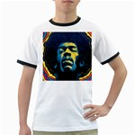 Gabz Jimi Hendrix Voodoo Child Poster Release From Dark Hall Mansion Ringer T-Shirts Front