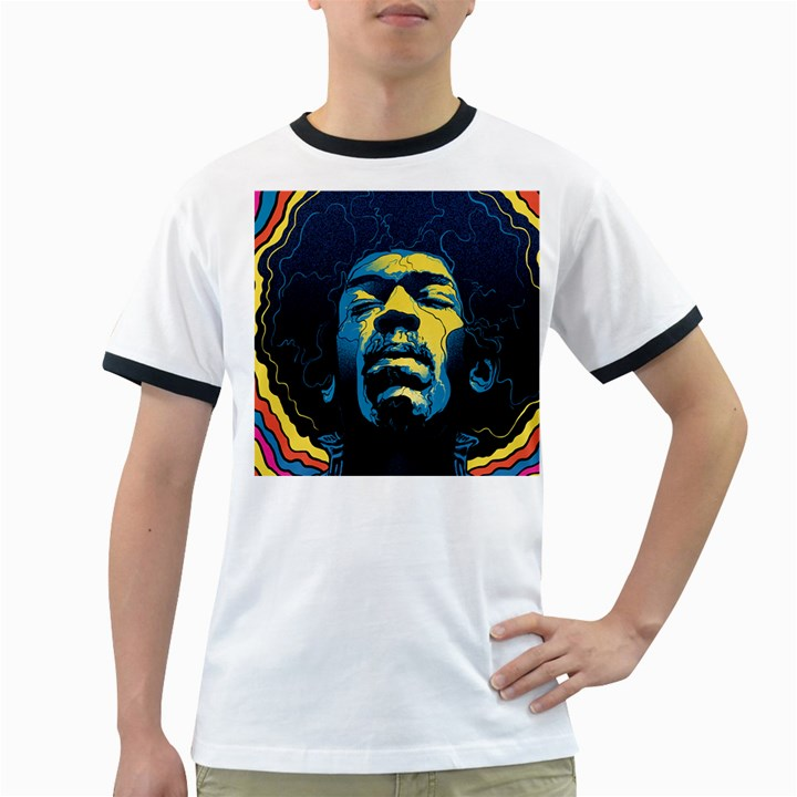 Gabz Jimi Hendrix Voodoo Child Poster Release From Dark Hall Mansion Ringer T-Shirts