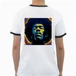 Gabz Jimi Hendrix Voodoo Child Poster Release From Dark Hall Mansion Ringer T-Shirts Back