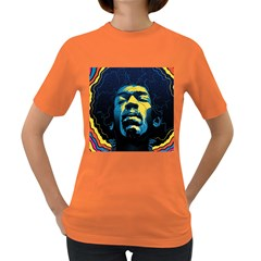 Gabz Jimi Hendrix Voodoo Child Poster Release From Dark Hall Mansion Women s Dark T-Shirt