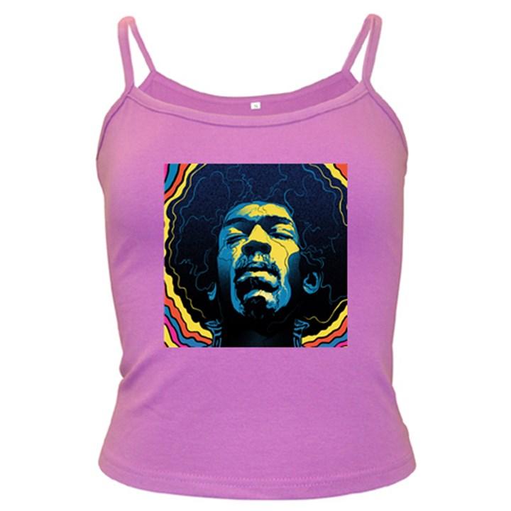 Gabz Jimi Hendrix Voodoo Child Poster Release From Dark Hall Mansion Dark Spaghetti Tank