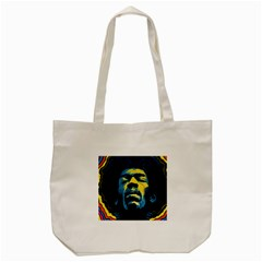 Gabz Jimi Hendrix Voodoo Child Poster Release From Dark Hall Mansion Tote Bag (Cream)