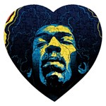 Gabz Jimi Hendrix Voodoo Child Poster Release From Dark Hall Mansion Jigsaw Puzzle (Heart) Front