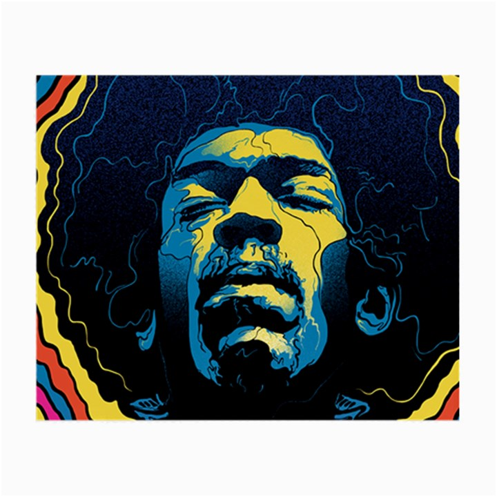 Gabz Jimi Hendrix Voodoo Child Poster Release From Dark Hall Mansion Small Glasses Cloth