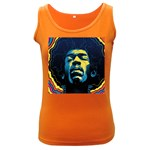 Gabz Jimi Hendrix Voodoo Child Poster Release From Dark Hall Mansion Women s Dark Tank Top Front