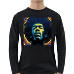 Gabz Jimi Hendrix Voodoo Child Poster Release From Dark Hall Mansion Long Sleeve Dark T-Shirts Front