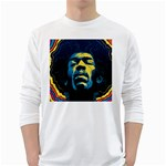Gabz Jimi Hendrix Voodoo Child Poster Release From Dark Hall Mansion White Long Sleeve T-Shirts Front