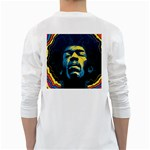 Gabz Jimi Hendrix Voodoo Child Poster Release From Dark Hall Mansion White Long Sleeve T-Shirts Back