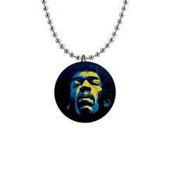 Gabz Jimi Hendrix Voodoo Child Poster Release From Dark Hall Mansion Button Necklaces