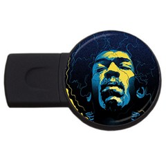 Gabz Jimi Hendrix Voodoo Child Poster Release From Dark Hall Mansion USB Flash Drive Round (4 GB)