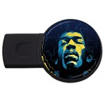 Gabz Jimi Hendrix Voodoo Child Poster Release From Dark Hall Mansion USB Flash Drive Round (4 GB)  Front