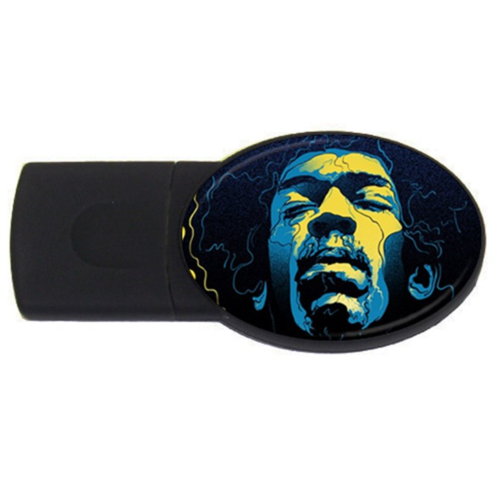Gabz Jimi Hendrix Voodoo Child Poster Release From Dark Hall Mansion USB Flash Drive Oval (4 GB)