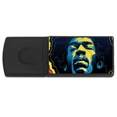 Gabz Jimi Hendrix Voodoo Child Poster Release From Dark Hall Mansion Usb Flash Drive Rectangular (4 Gb)