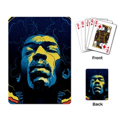 Gabz Jimi Hendrix Voodoo Child Poster Release From Dark Hall Mansion Playing Card