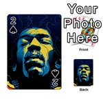 Gabz Jimi Hendrix Voodoo Child Poster Release From Dark Hall Mansion Playing Cards 54 Designs  Front - Spade2
