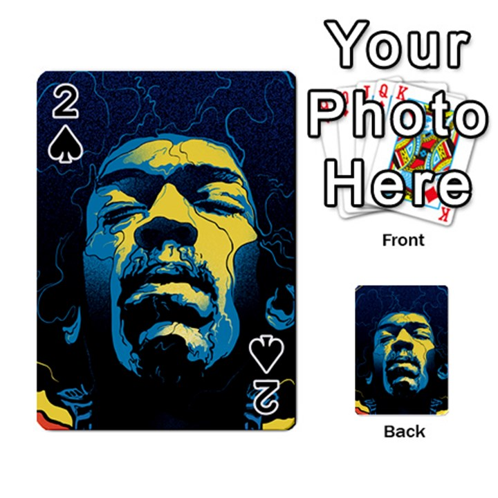 Gabz Jimi Hendrix Voodoo Child Poster Release From Dark Hall Mansion Playing Cards 54 Designs