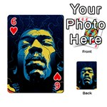 Gabz Jimi Hendrix Voodoo Child Poster Release From Dark Hall Mansion Playing Cards 54 Designs  Front - Heart6