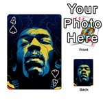 Gabz Jimi Hendrix Voodoo Child Poster Release From Dark Hall Mansion Playing Cards 54 Designs  Front - Spade4