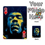 Gabz Jimi Hendrix Voodoo Child Poster Release From Dark Hall Mansion Playing Cards 54 Designs  Front - HeartQ