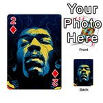 Gabz Jimi Hendrix Voodoo Child Poster Release From Dark Hall Mansion Playing Cards 54 Designs  Front - Diamond2
