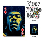 Gabz Jimi Hendrix Voodoo Child Poster Release From Dark Hall Mansion Playing Cards 54 Designs  Front - Diamond4
