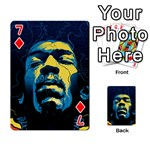 Gabz Jimi Hendrix Voodoo Child Poster Release From Dark Hall Mansion Playing Cards 54 Designs  Front - Diamond7