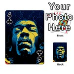 Gabz Jimi Hendrix Voodoo Child Poster Release From Dark Hall Mansion Playing Cards 54 Designs  Front - Club4