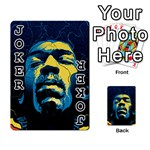 Gabz Jimi Hendrix Voodoo Child Poster Release From Dark Hall Mansion Playing Cards 54 Designs  Front - Joker1