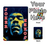 Gabz Jimi Hendrix Voodoo Child Poster Release From Dark Hall Mansion Playing Cards 54 Designs  Front - Joker2