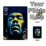 Gabz Jimi Hendrix Voodoo Child Poster Release From Dark Hall Mansion Playing Cards 54 Designs  Front - Spade10