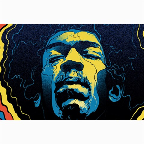 Gabz Jimi Hendrix Voodoo Child Poster Release From Dark Hall Mansion Collage Prints