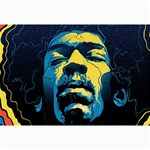 Gabz Jimi Hendrix Voodoo Child Poster Release From Dark Hall Mansion Collage Prints 18 x12 Print - 3