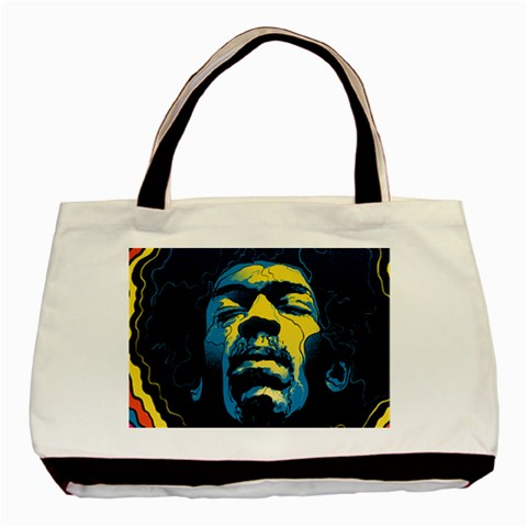Gabz Jimi Hendrix Voodoo Child Poster Release From Dark Hall Mansion Basic Tote Bag