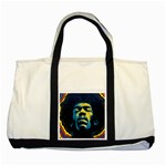 Gabz Jimi Hendrix Voodoo Child Poster Release From Dark Hall Mansion Two Tone Tote Bag Front