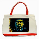 Gabz Jimi Hendrix Voodoo Child Poster Release From Dark Hall Mansion Classic Tote Bag (Red) Front