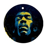 Gabz Jimi Hendrix Voodoo Child Poster Release From Dark Hall Mansion Round Ornament (Two Sides)  Back