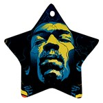 Gabz Jimi Hendrix Voodoo Child Poster Release From Dark Hall Mansion Star Ornament (Two Sides)  Back