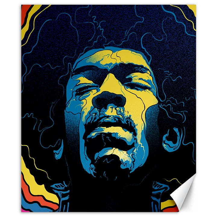 Gabz Jimi Hendrix Voodoo Child Poster Release From Dark Hall Mansion Canvas 8  x 10