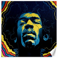 Gabz Jimi Hendrix Voodoo Child Poster Release From Dark Hall Mansion Canvas 12  x 12